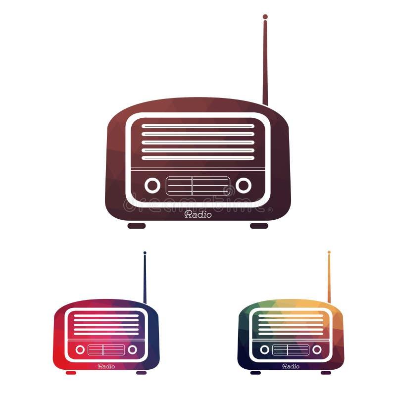 Fije la radio del vintage de Multicolors libre illustration