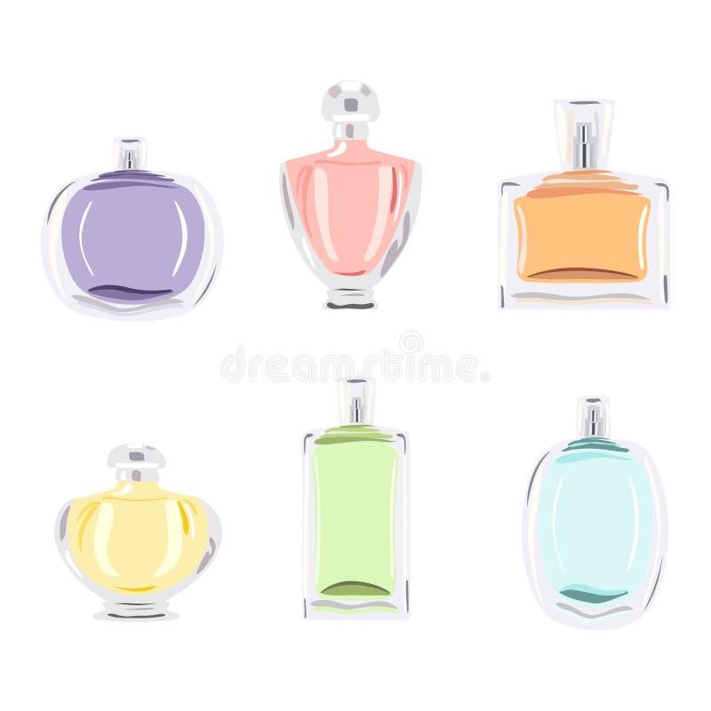 Fije las botellas de perfume libre illustration