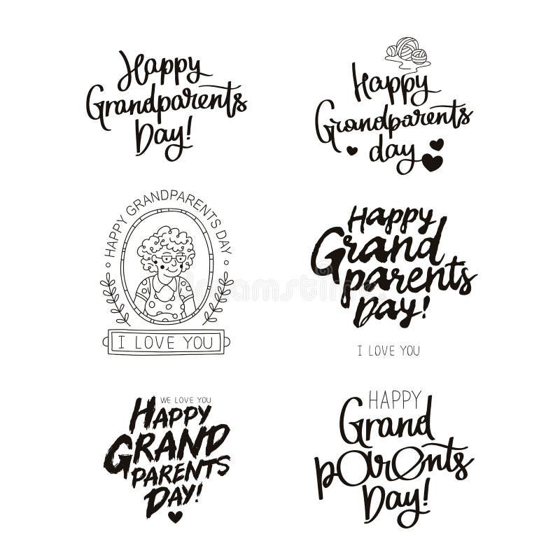 ¡Fije las citas sobre día feliz de los abuelos! libre illustration