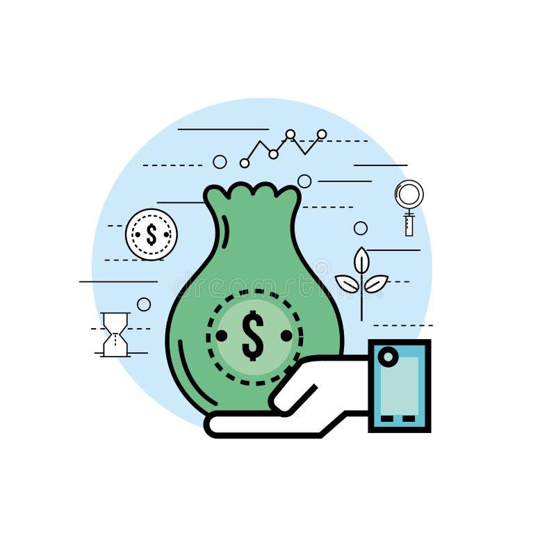 Fije las finanzas del analytics a la estrategia de la corporación libre illustration