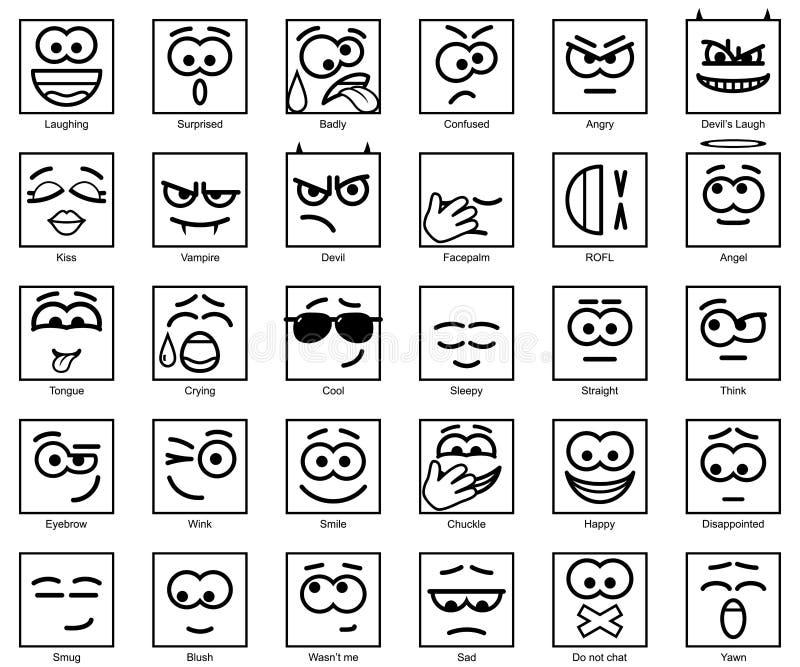 Fije las sonrisas del cuadrado del vector ilustración del vector