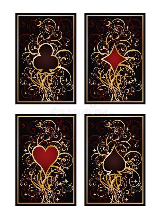 Download Fije Las Tarjetas Del Póker Ilustración del Vector - Ilustración de corazón, postal: 41904076