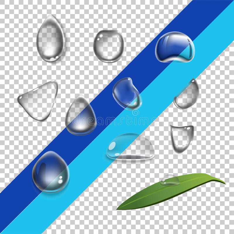 Fije los descensos del agua ilustración del vector