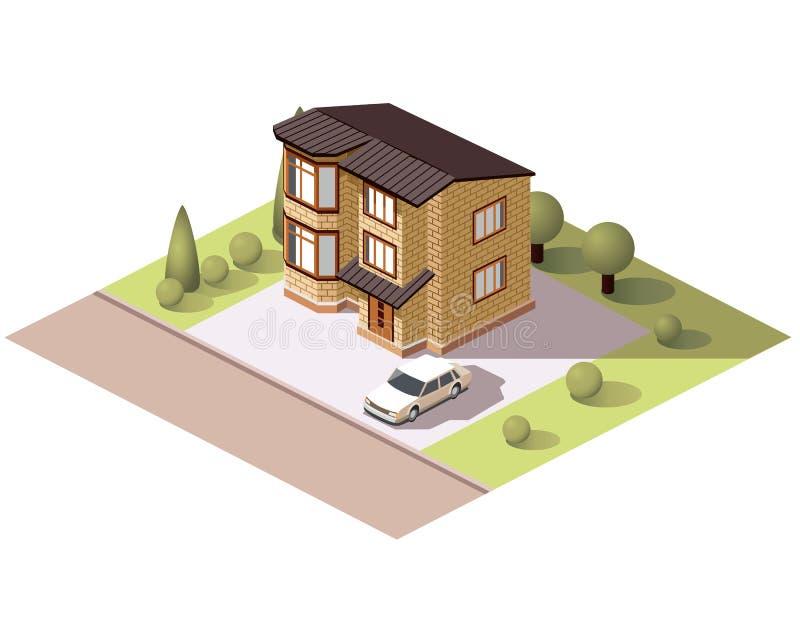 Fije los edificios de las tejas stock de ilustración