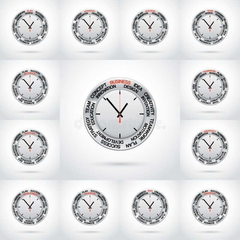 Fije los ejemplos del vector del reloj libre illustration