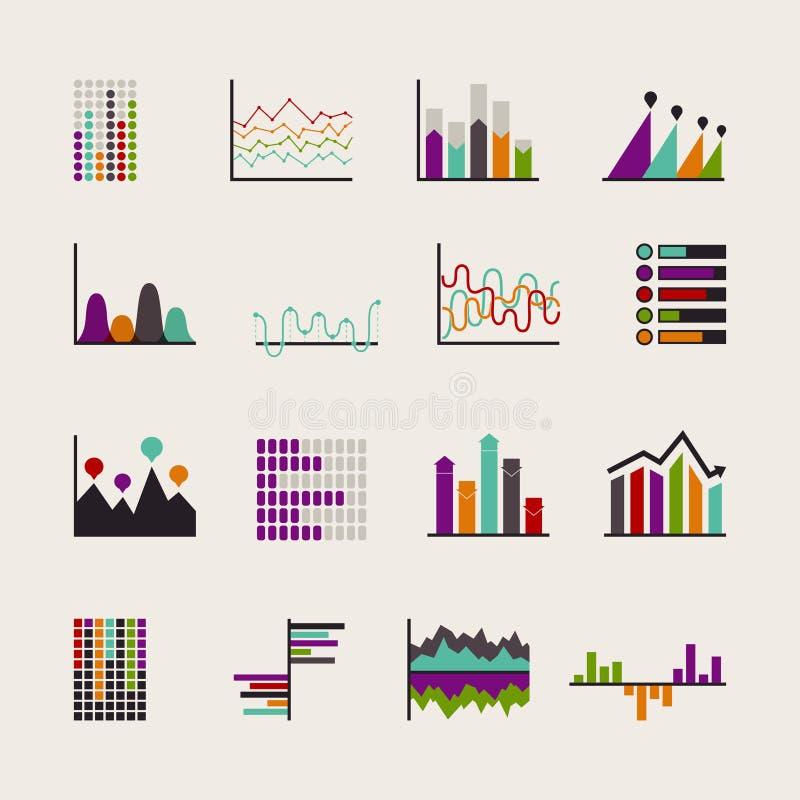 Fije los horario para los ejemplos del negocio ilustración del vector