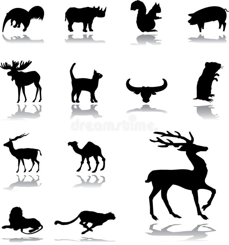 Fije los iconos - 159. Animales libre illustration