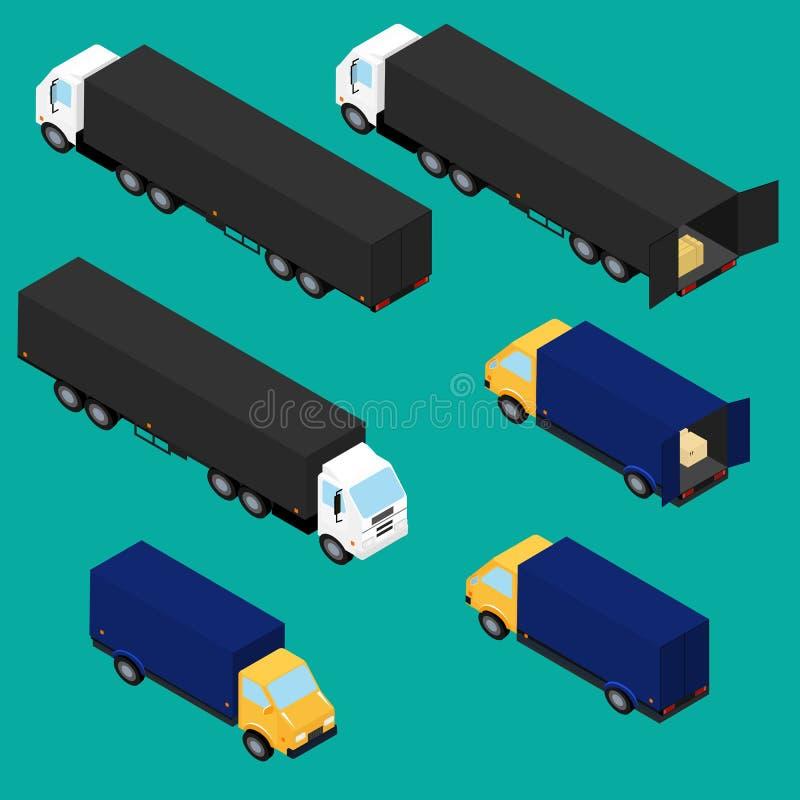 Fije los iconos de camiones ilustración del vector