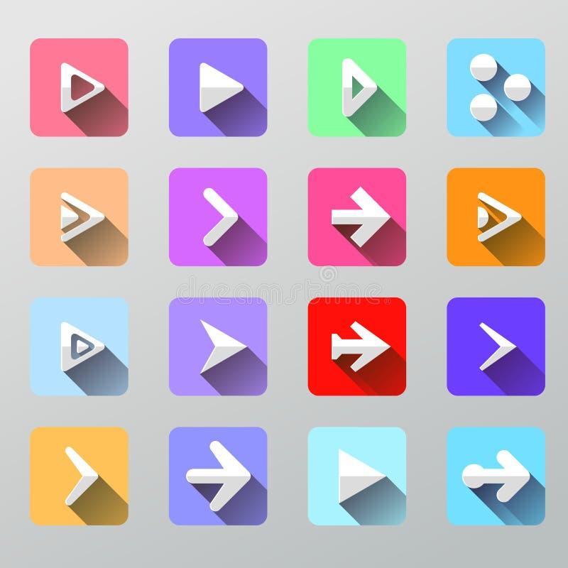 Fije los iconos de la flecha - UI plano para el web y el móvil libre illustration