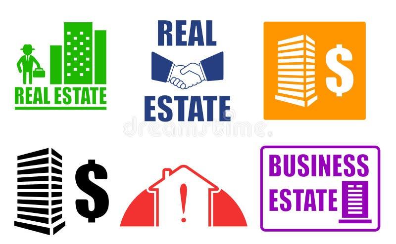Fije los iconos del estado del negocio ilustración del vector