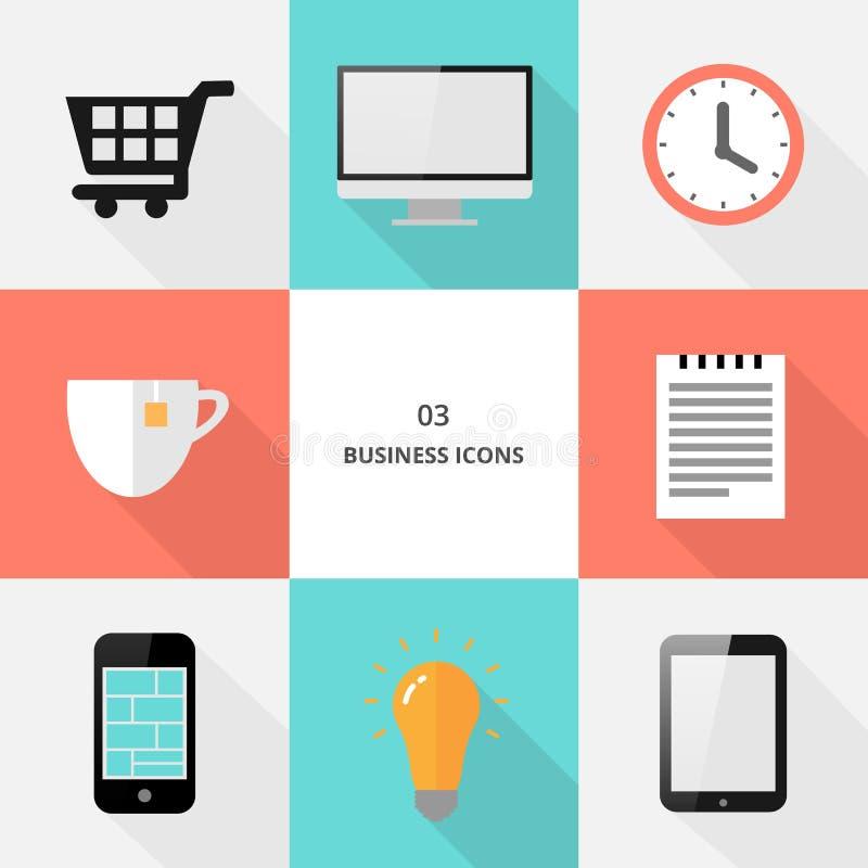 Fije 03 - los iconos planos del negocio del diseño libre illustration