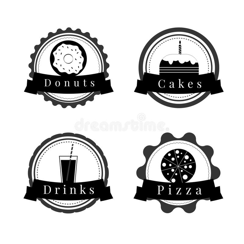 Fije los logotipos ilustración del vector