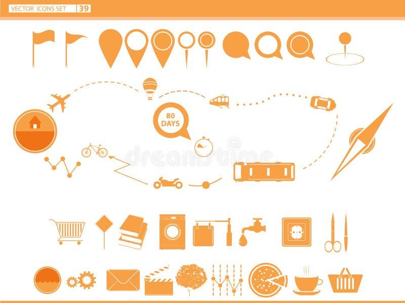 fije los modos de los iconos de transporte nearsighted ilustración del vector