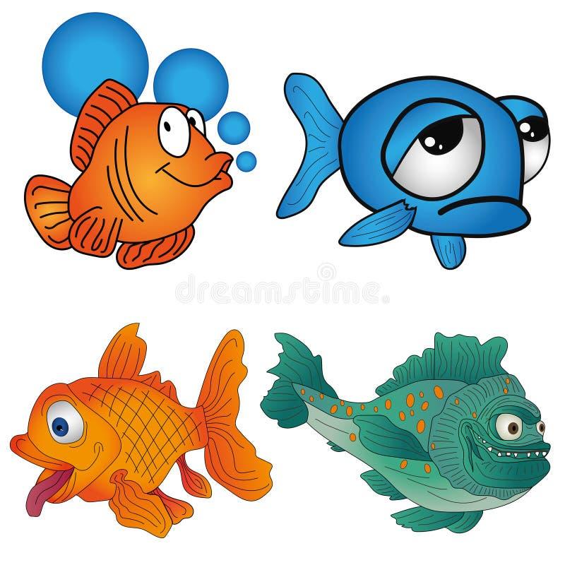 Fije los pescados stock de ilustración