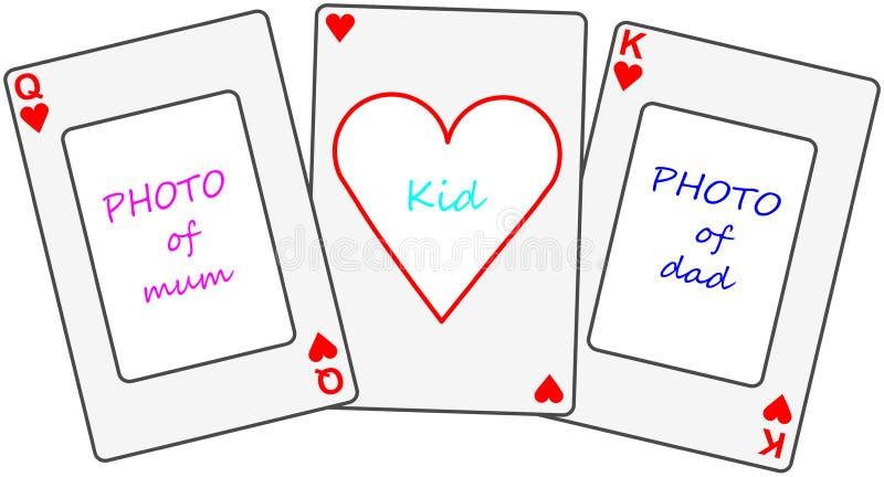 Fije los playcards como photoframe libre illustration
