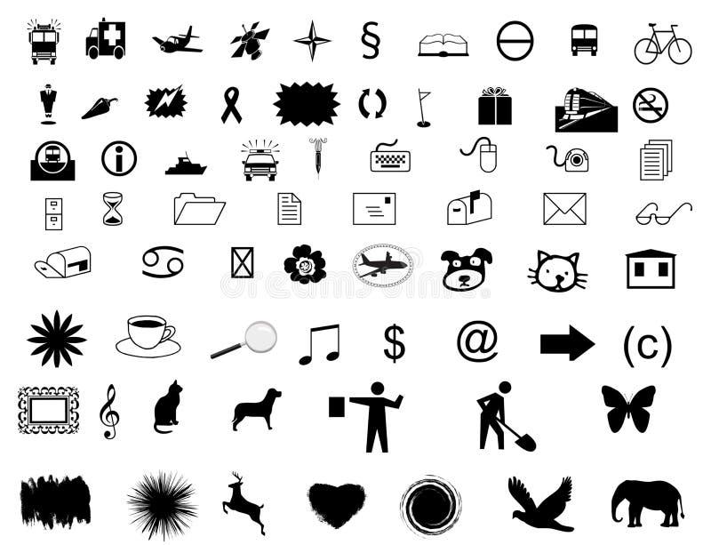 Fije los símbolos ilustración del vector