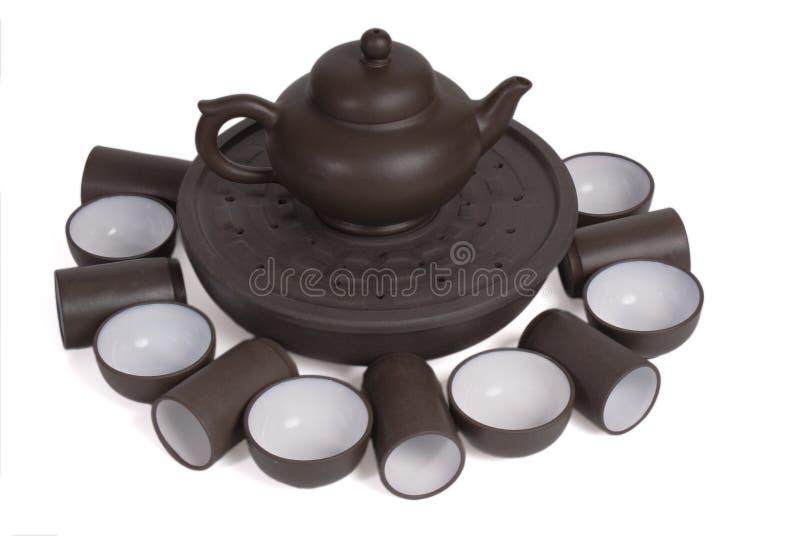 Fije para la ceremonia de té china imagen de archivo libre de regalías
