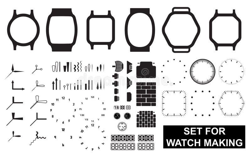 Fije para la fabricación del reloj ilustración del vector