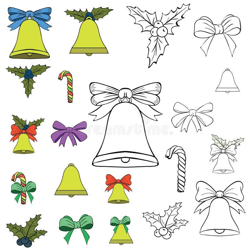 Fije por el Año Nuevo s y la Navidad ilustración del vector