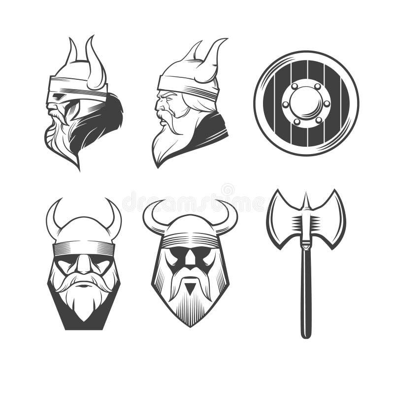 Fije a vikingo stock de ilustración