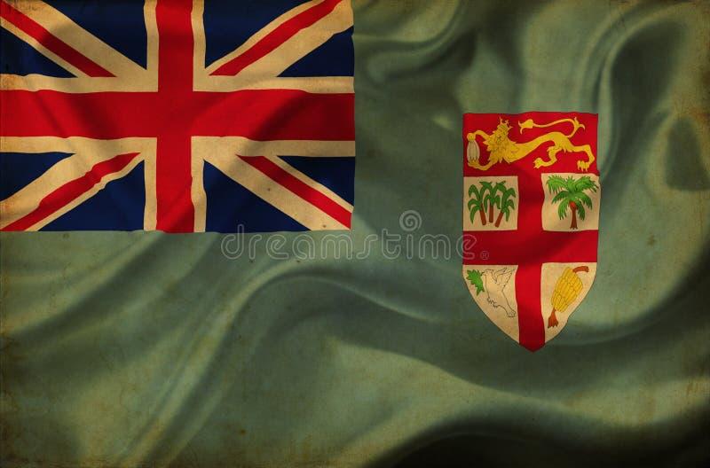 Fiji falowania flaga ilustracji