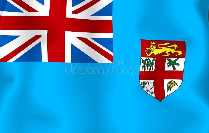 fiji flaga ilustracji