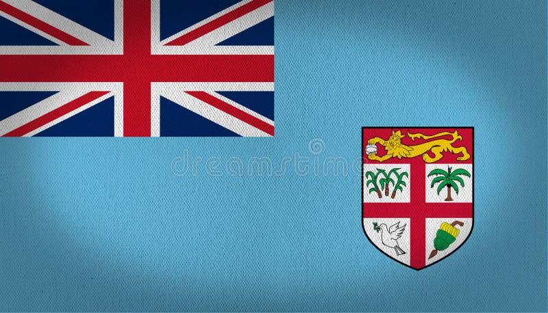 Fiji flaga ilustracja wektor