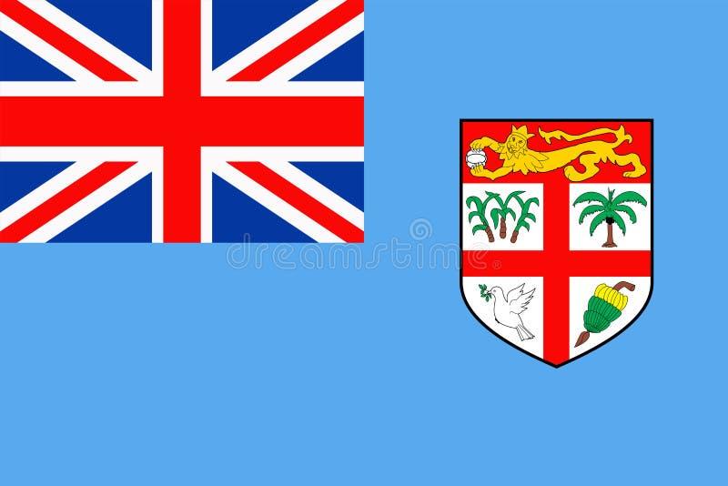 Fiji flaga Wektorowa Płaska ikona royalty ilustracja
