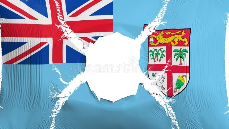 Fiji flaga z dziurą royalty ilustracja
