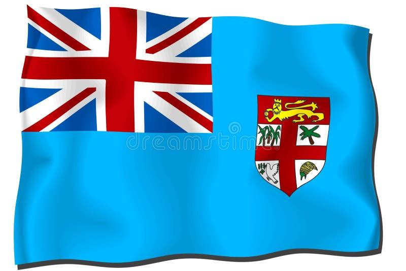fiji flagga royaltyfri illustrationer