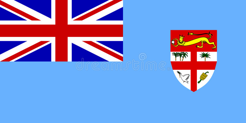 fiji flagga royaltyfri illustrationer