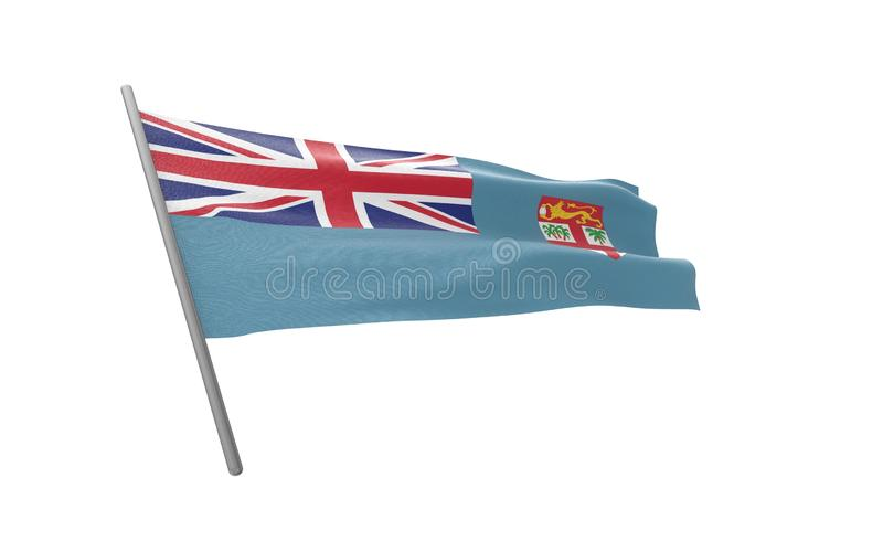 fiji flagga vektor illustrationer