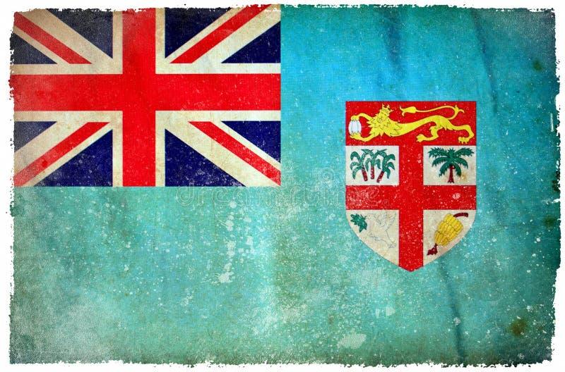 Fiji grunge flaga ilustracji