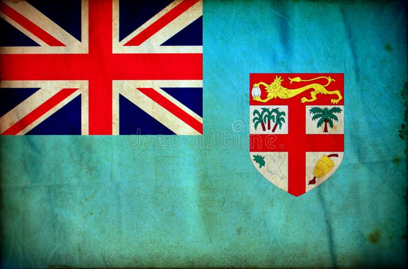 Fiji grunge flaga royalty ilustracja
