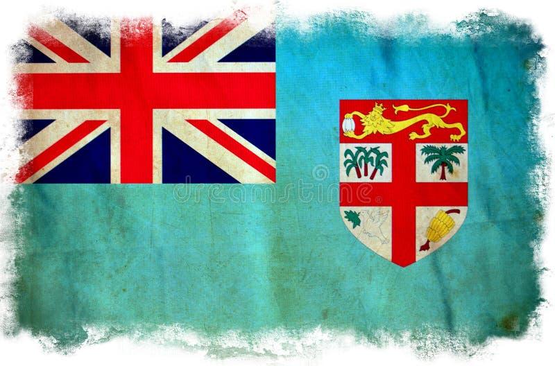 Fiji grunge flaga ilustracja wektor