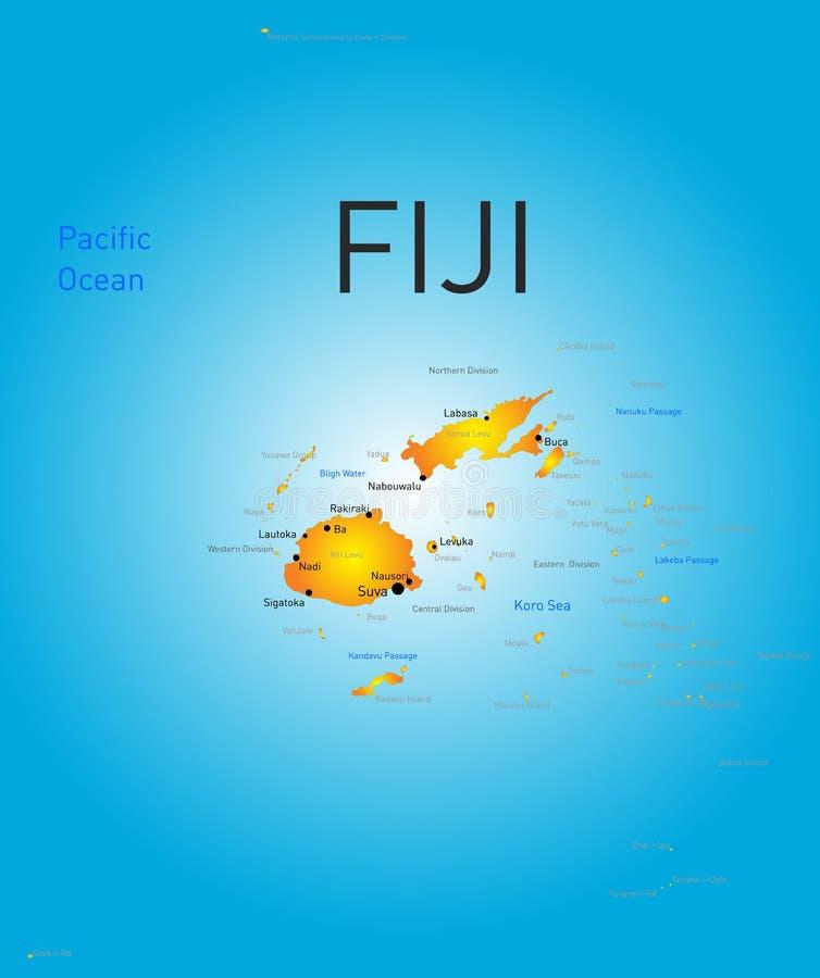 Fiji kraj royalty ilustracja