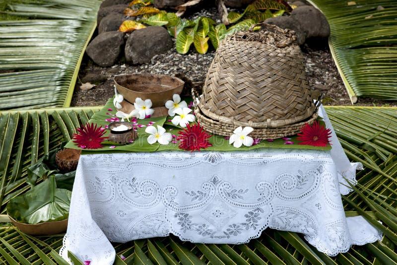 Fiji - Lijst die op Gasten wordt voorbereid royalty-vrije stock foto's