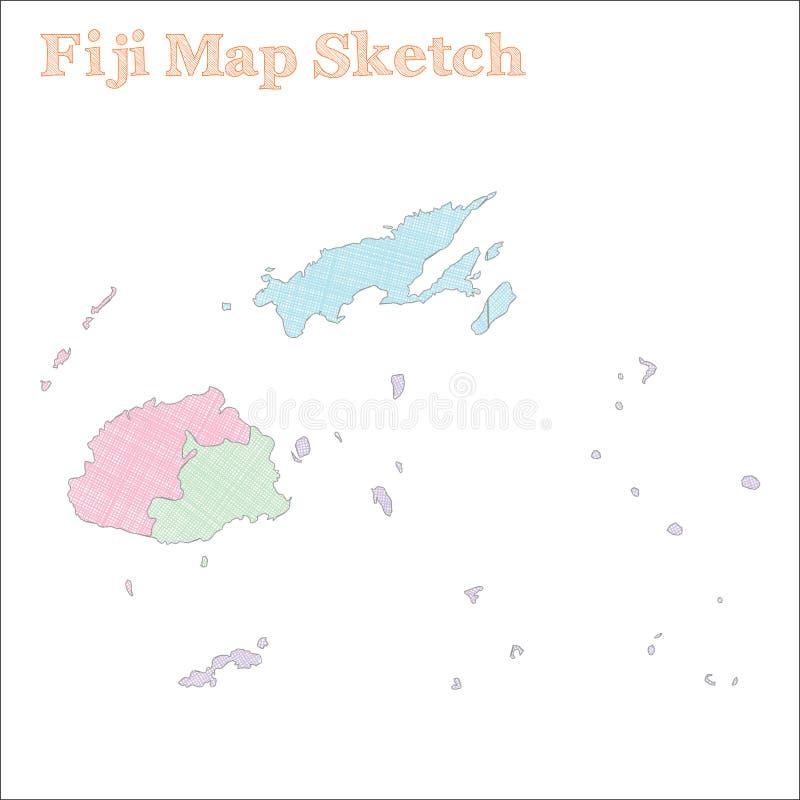 Fiji mapa ilustracja wektor