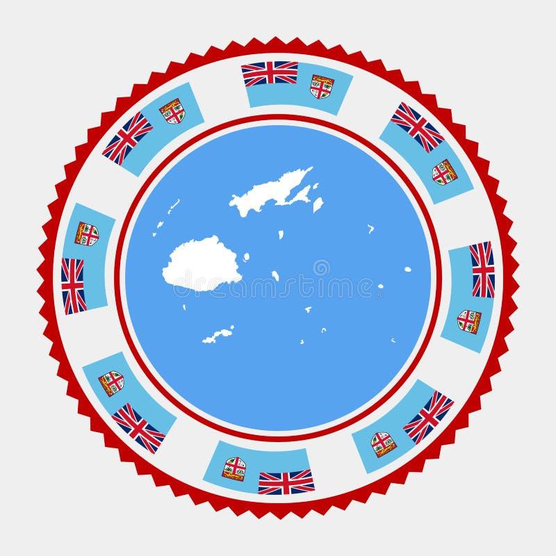 Fiji mieszkania znaczek ilustracja wektor