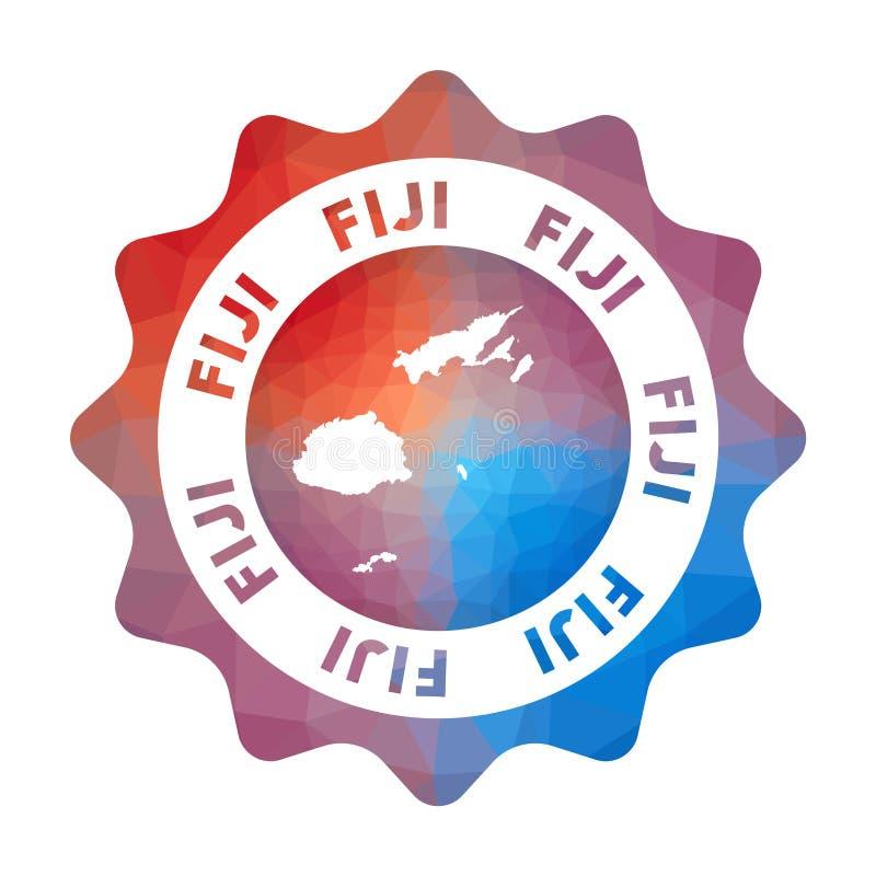 Fiji niski poli- logo ilustracji