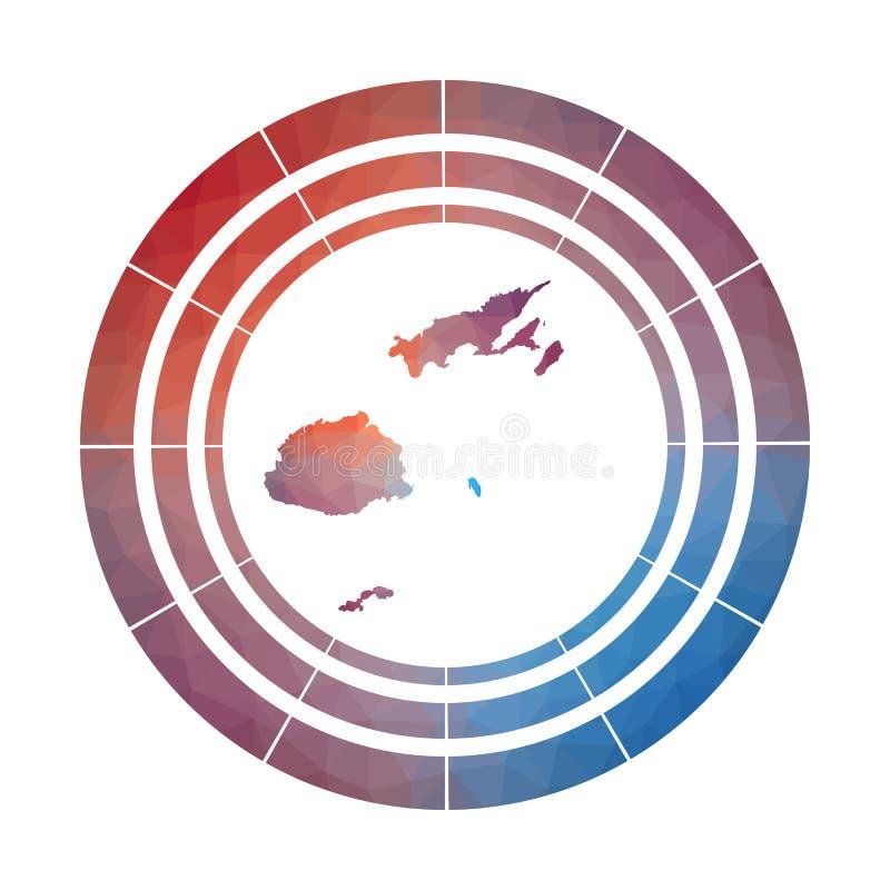 Fiji odznaka ilustracji