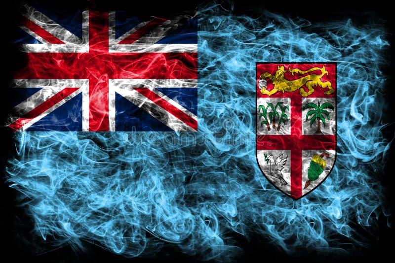 Download Fiji Smoke Flag On A Black Background Stock Illustration