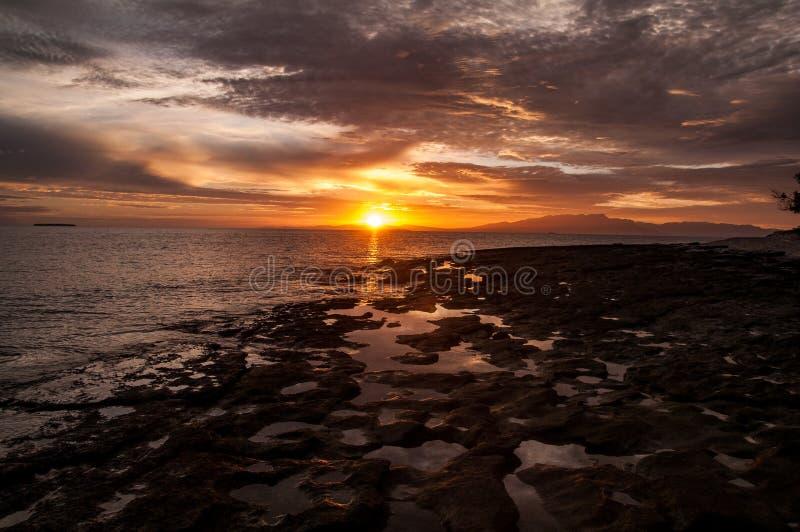 Fiji Sunrise royalty free stock images