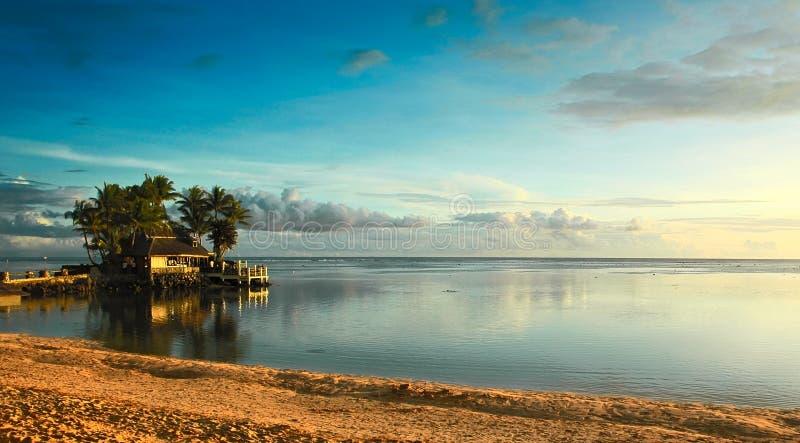 Fiji sunset. Oceanic sunset on Fiji islands royalty free stock image