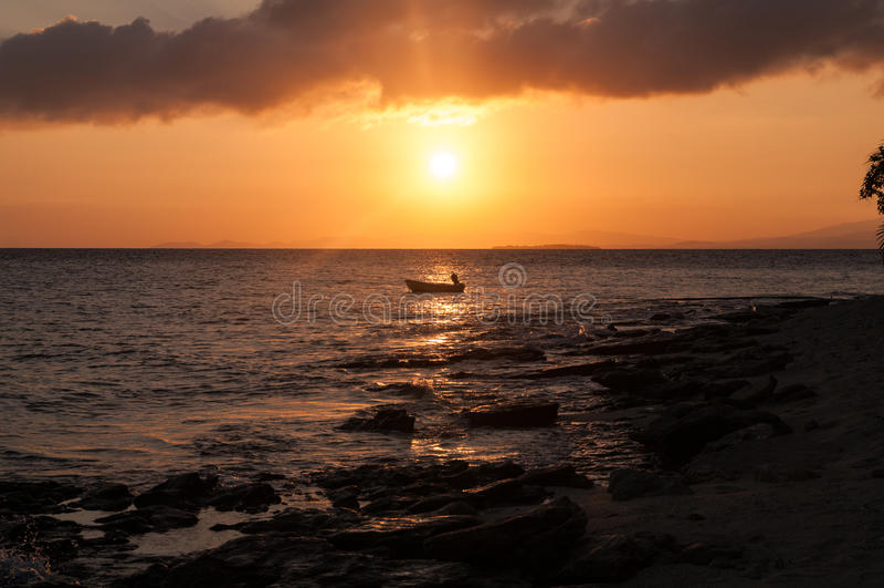 Fiji Sunset stock photo