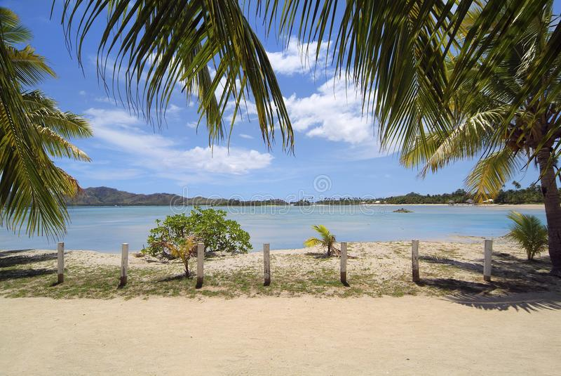 Fiji wyspa, plaża obraz royalty free