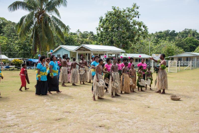 Fijian Culturele Prestaties royalty-vrije stock afbeelding