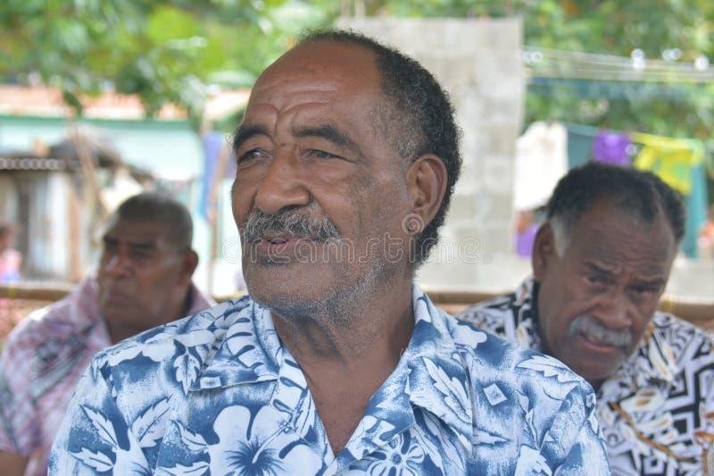 Fijian nativo fotografía de archivo