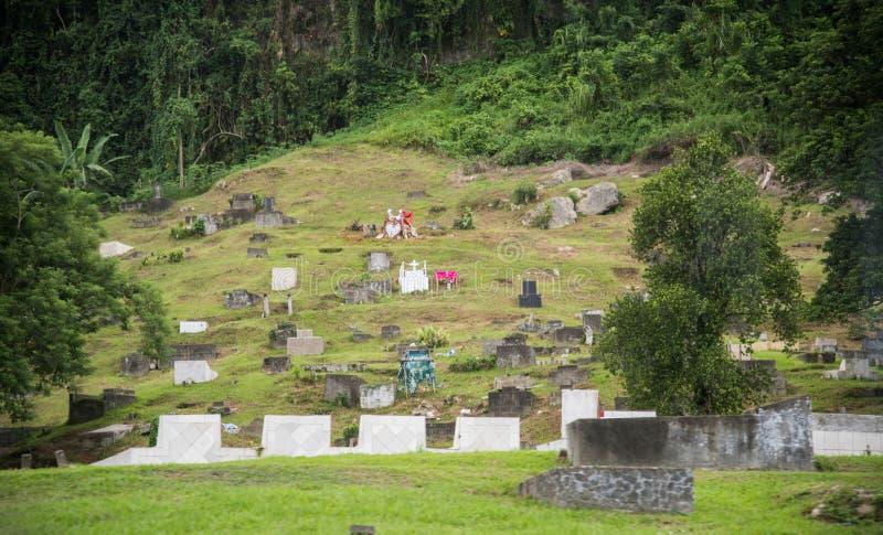 Fijianbegraafplaats stock foto