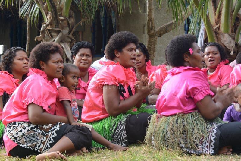 Fijianensemble royalty-vrije stock foto's